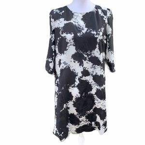 Kensie Black and White Tunic Dress  Size Large